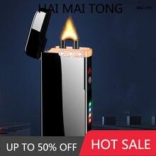 Extra Large Arc Ciga lighter USB charging lighter Plasma cigarette cigar lighters Windproof flame El