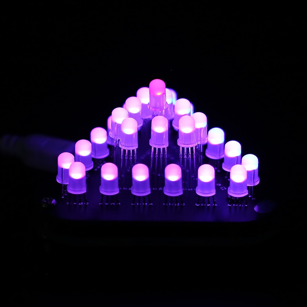 Kit DIY 5mm RGB luz LED intermitente anillo módulo de luz led módulo pixel led luces de respiración luces decorativas de Color degradado