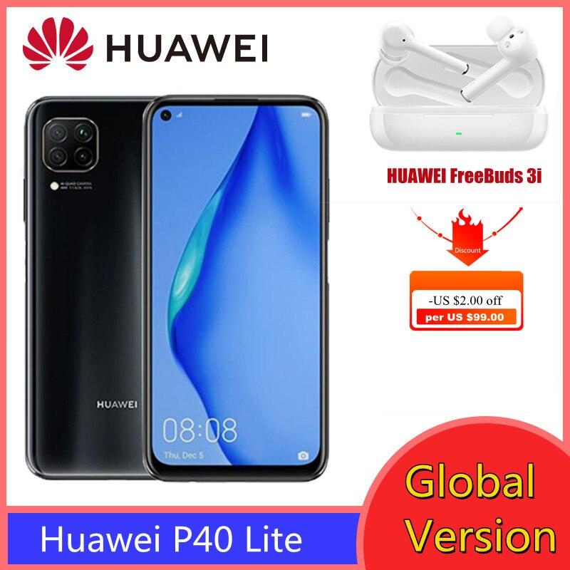 Перейти на Алиэкспресс и купить Huawei P40 Lite глобальная версия смартфон 6 ГБ 128 Kirin 810 Octa Core 48MP AI камеры 6,4 дюймFHD экран и FreeBuds 3i гарнитура