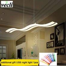 Creative moderne vague pendentif LED lampe S 38W réglable suspension lampe salle à manger restaurant salon lustre 110V 220V
