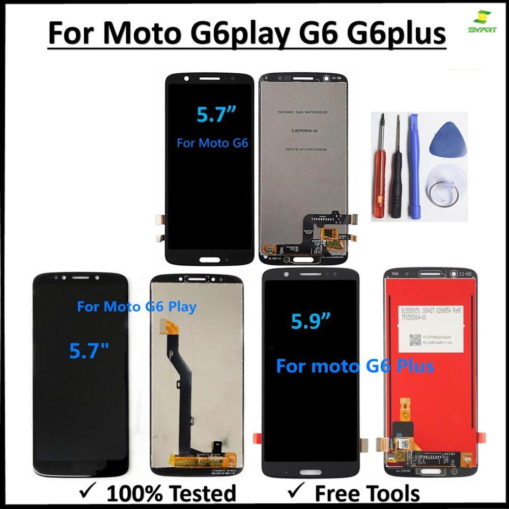 Para Motorola MOTO G6 pantalla LCD MONTAJE DE digitalizador con pantalla táctil reemplazo para Moto G6 G6Plus G6 Play LCD pantalla + herramientas gratis