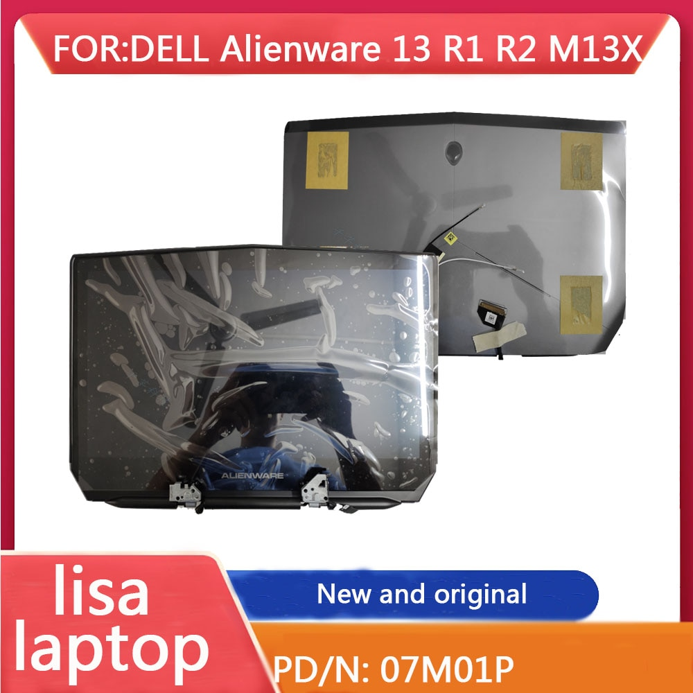 Lt Is Applicable To The Upper Half 07M01P Of Dell Alien Alienware 13 R1 R2 M13X LCD Back Cover Screen Assembly