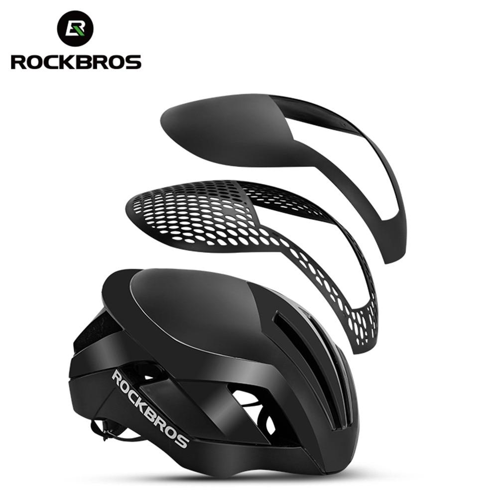 Rockbros 3 em 1 capacete de ciclismo eps luz reflexiva capacete da bicicleta integralmente moldado mtb estrada capacete de segurança masculina
