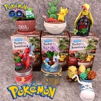 Аниме Покемон игрушки модные миниатюрный пейзаж сюрприз глухая коробка Пикачу Scizor Dragonair Arcanine Pidgeot Рисунок игрушка в подарок