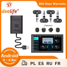 Deelife TMPS Android USB TPMS for Car DVD Player Auto Radio Tire Pressure Monitoring System External