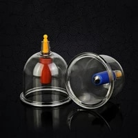 big size 64mm plastic vacuum cupping cups moisture therapy cupping vacuum suction massager cans cup vacuum plastic jars suc p2y7