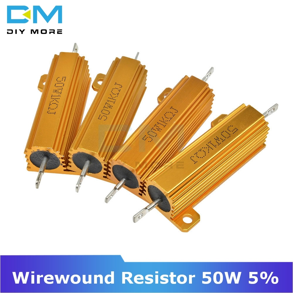 0.5R 1R 2R 4R 6R 8R 10R 20R 50 Вт Алюминий корпус занимает чехол Мощность с проволочной обмоткой резистор 1K 5% + 5%-5% 0,5/1/2/4/6/8/10/20/ 50/100 Ом