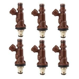 6Pcs Car Fuel Injector for Toyota Tacoma - 4Runner 3.4L V6 Number:23250-62040 23209-62040