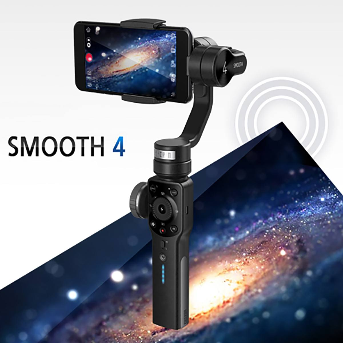 Zhiyun suave 4 sem escova 3 eixos cardan handheld estabilizador smartphone cardan para iphone para samsung todos os telefones vídeo foto