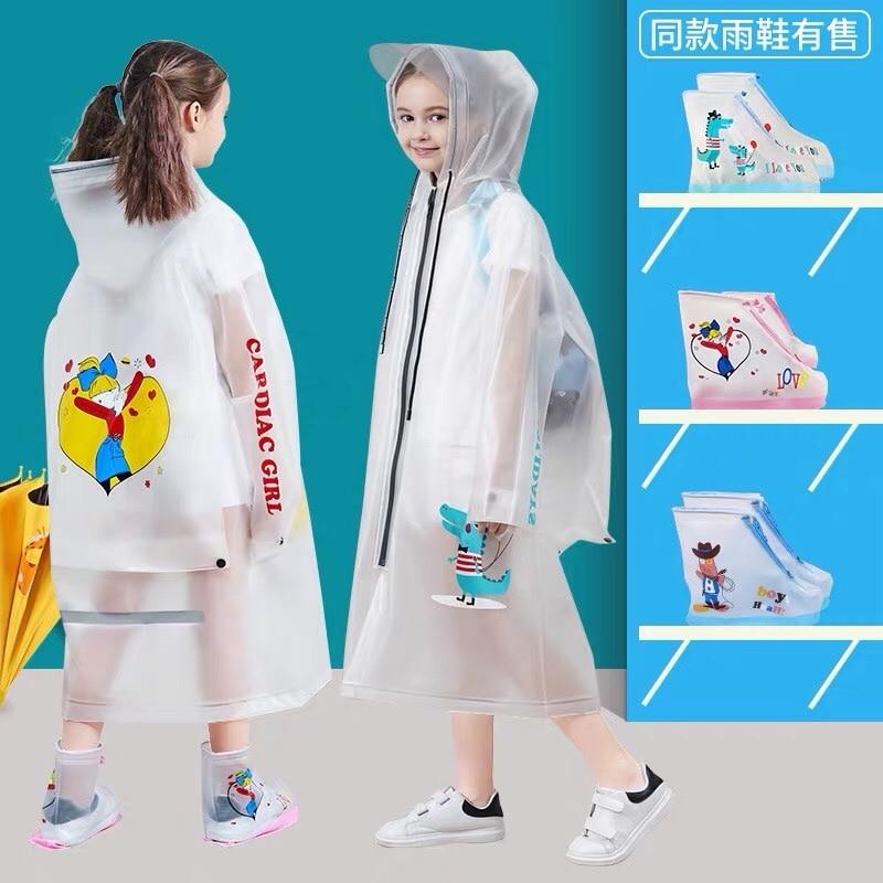Poncho Cute Raincoat Jacket Hiking Long Hooded Poncho Waterproof Raincoat Kids Transparent Poncho Impermeable Rain Gear BL50RC enlarge