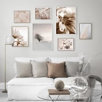 pastel colors reed grass flower tree dancer wall art print canvas painting nordic poster wall pictures for living room decor