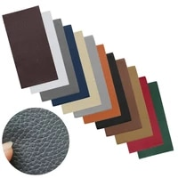 20x10cm 12color no ironing self adhesive stick on sofa clothes repairing leather pu fabric large stickers patches lychee pattern
