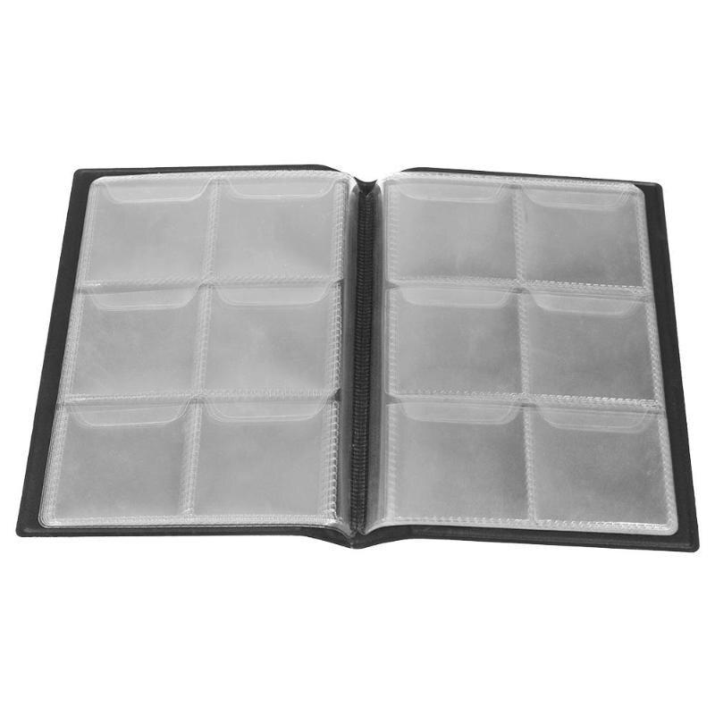 Organizador de libros de colección de monedas de plata álbum de 60 bolsillos de 10 páginas