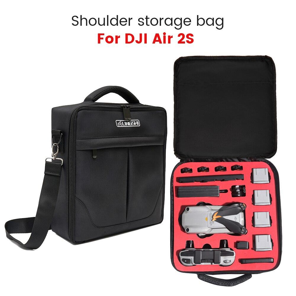 ل DJI Air 2S المحمولة حقيبة كتف حقيبة حمل حقيبة مقاوم للماء مكافحة صدمة صندوق ل Mavic الهواء 2/2S الطائرة بدون طيار حقيبة الملحقات