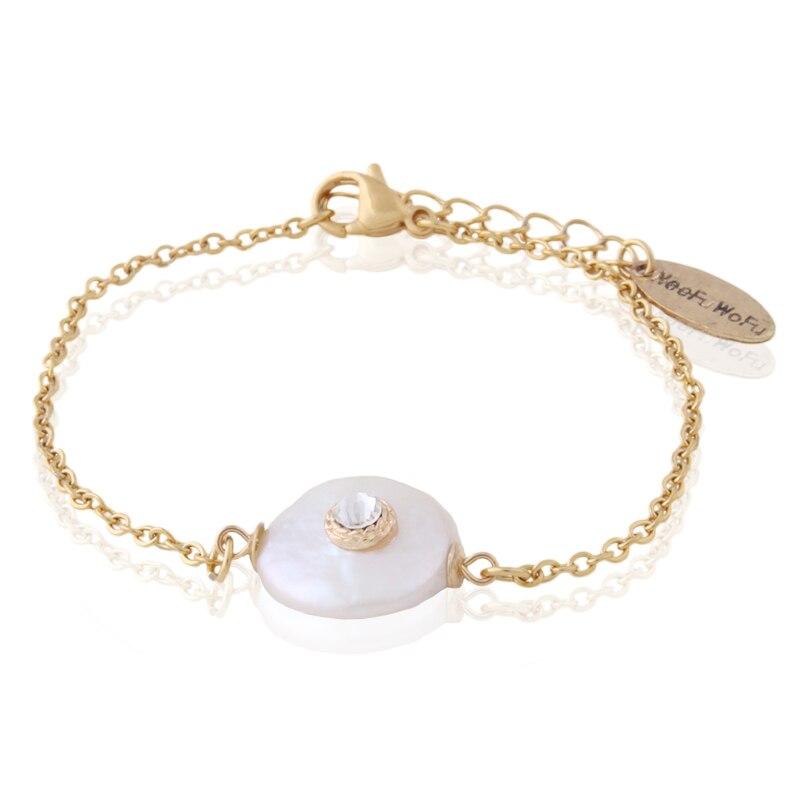 Pulsera de perlas de agua dulce NeeFu WoFu para mujer, pulsera de piedra Natural lapislázuli, brazalete con cuentas, brazalete de Bohemia, joyería