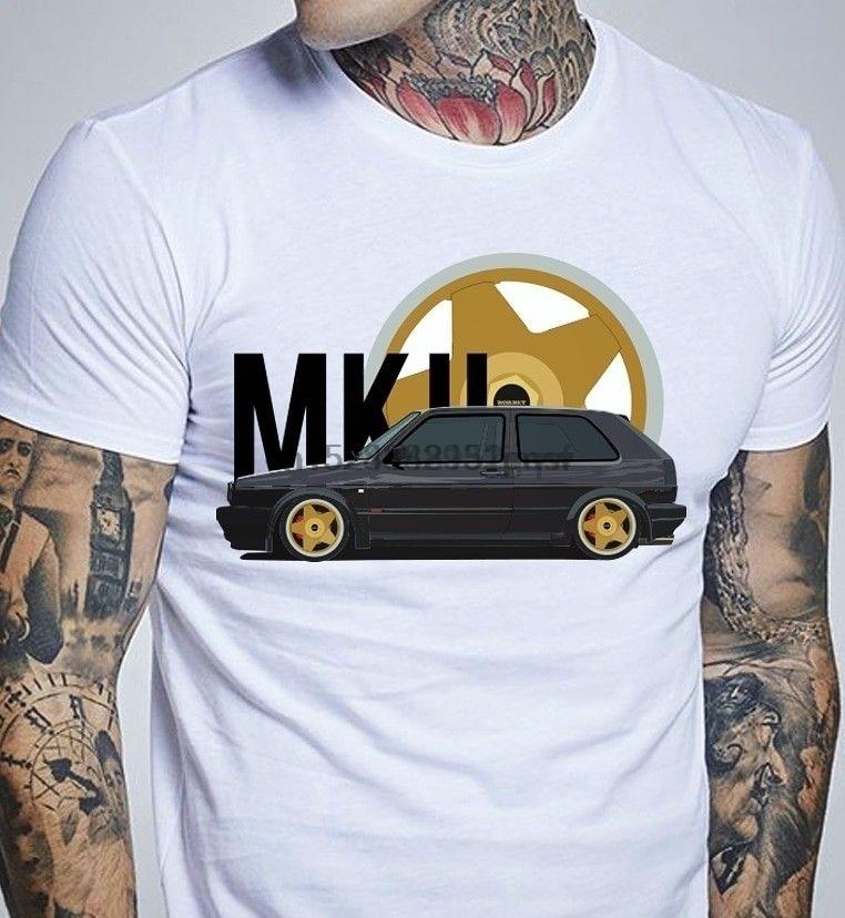 2018 de moda de verano de camiseta Alemania clásico leyenda coche de Golf Mk2 Ruedas Neumáticos camisetas pantalón corto Casual manga