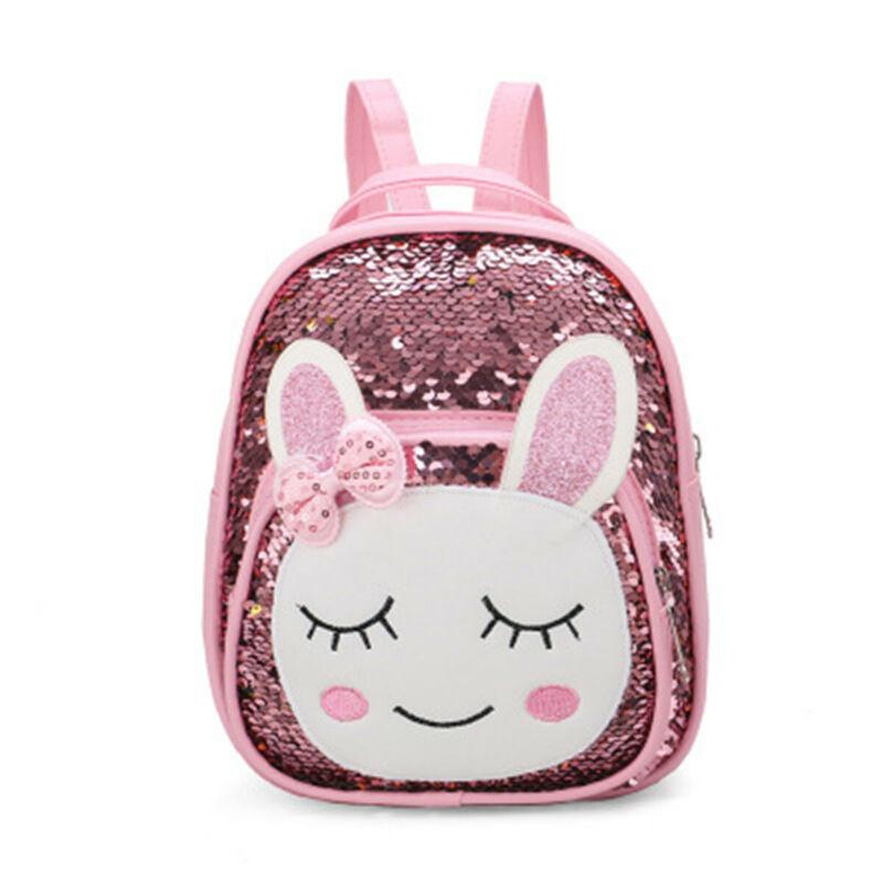 Toddler Kid Children Girls Cartoon Animal Sequins Backpack School Bag Rucksack Bookbag Outdoor Travel Bag