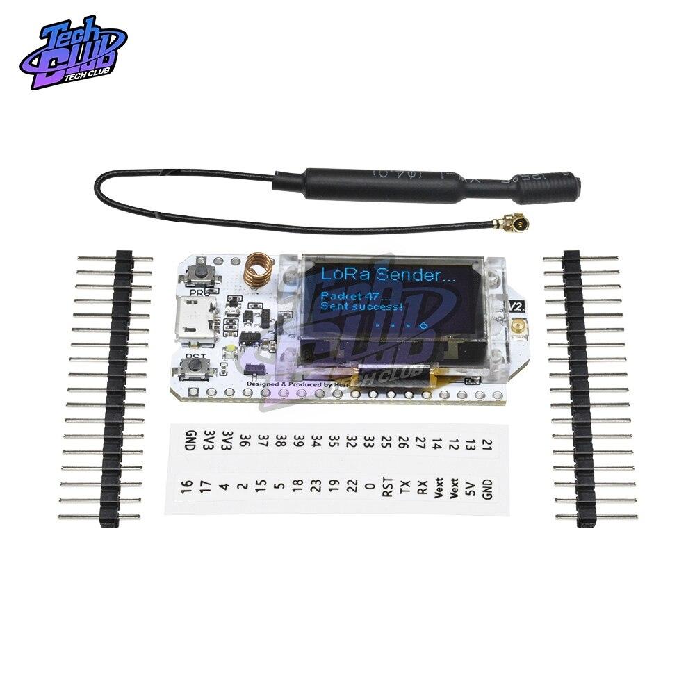 "SX1276 ESP32 LoRa Bluetooth WiFi, placa de desarrollo 868 MHz-915 MHz de modo Dual 0,96 ""IOT CP2102 Micro USB antena 32M para Arduino"