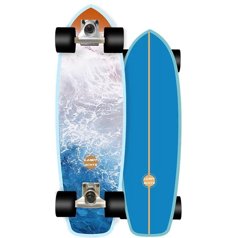 28.5'' Land Surfskate Cruiser Surf Skate Board 7-Tier Maple Deck Complete Ready To Ride Street Park Surfing Sport Skateboards