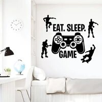 video game wall decal ps4 gamer character vinyl wall stickers bedroom home decoration living room removalbe posters