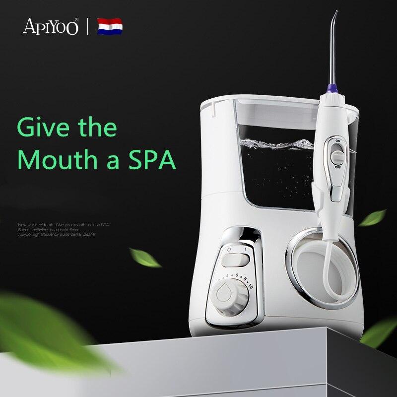 Apiyoo Oral Irrigator Water Flosser Portable Electric Dental 4 Jet tips 800ML Water Tank Tooth Care Teeth Cleaner Toothbrush enlarge