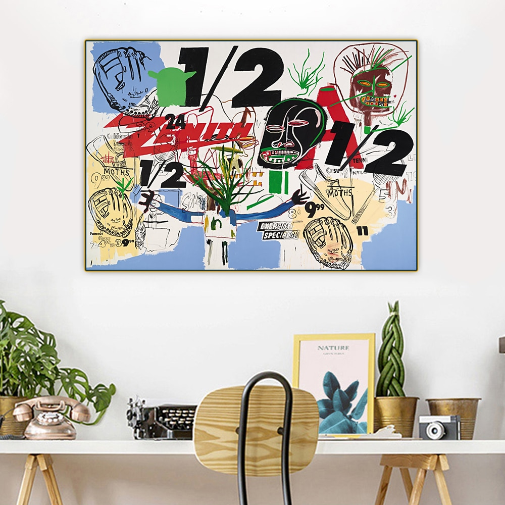 Citon Jean-Cuadro de pintura decorativa para decoración del hogar, pintura al óleo,...