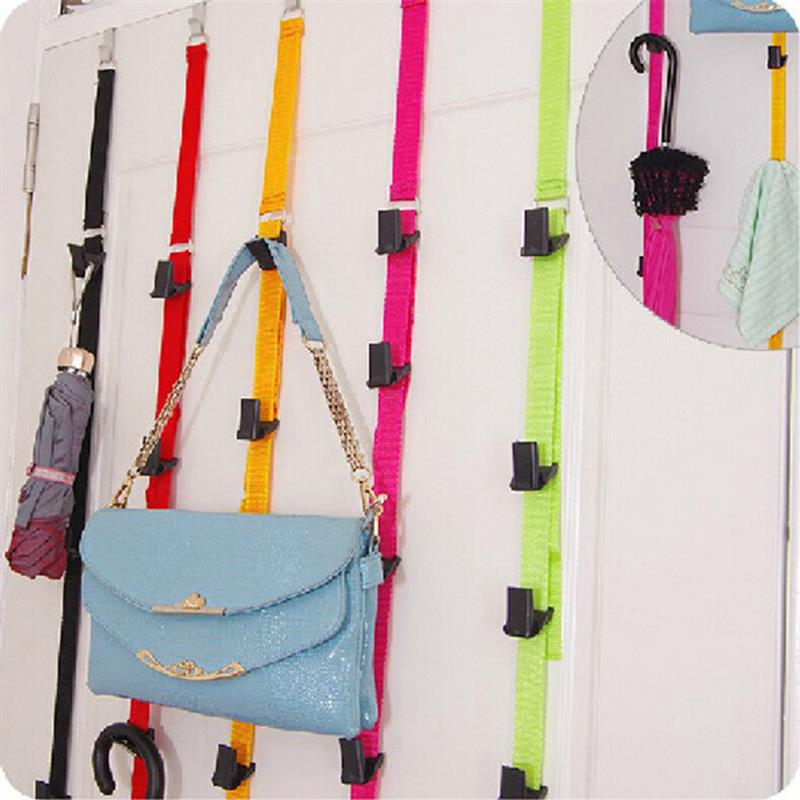 Вешалка для шляп, бейсболок, держатель без сверления, сумка для одежды, органайзер для хранения зонтов, регулируемая подвесная дверь для дом...