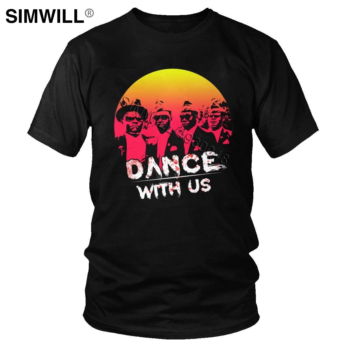 Humor Ghana ataúd Dance camiseta hombres 2020 divertido Meme Funeral Dancing con Casket Pallbearers Camiseta de manga corta de algodón Tee Top