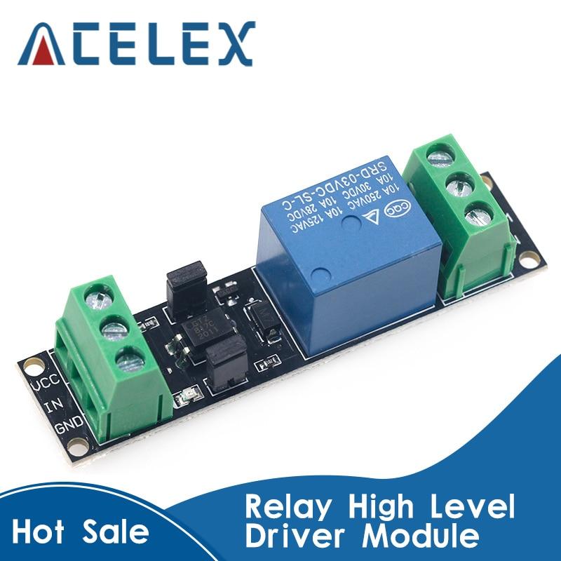 Módulo de control de unidad aislado de relé de 3V único, tablero de transmisión de alto nivel