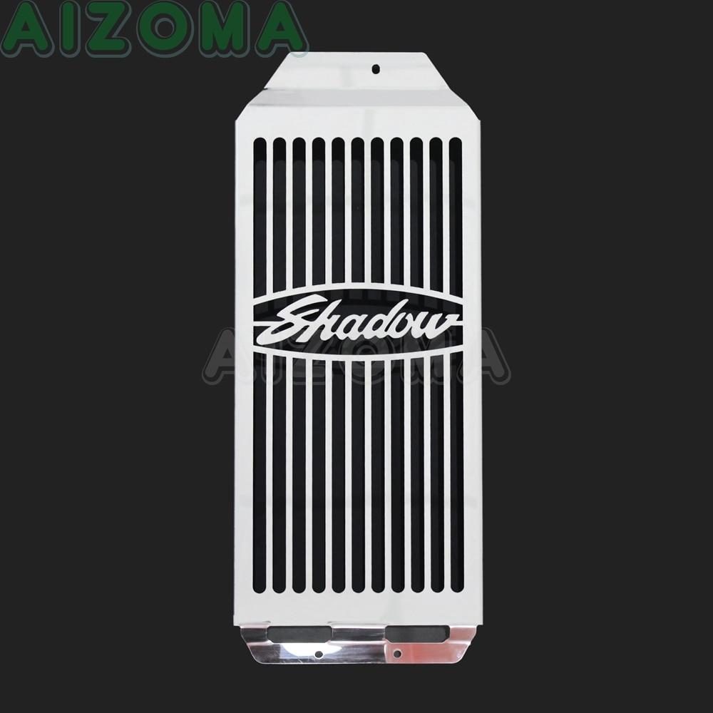 Cubierta cromada para radiador de motocicleta, rejilla de acero inoxidable para Honda Shadow VT 400 750 Aero VT400 VT750 2004-2009 2010 2011