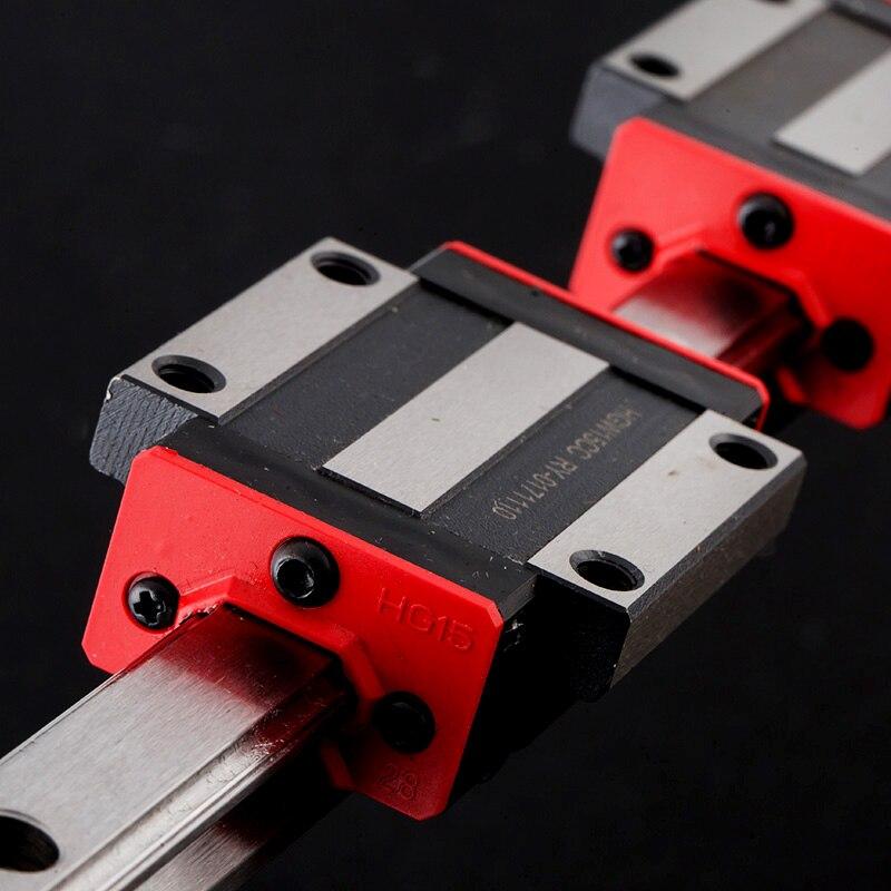Carril de precisión 1 unidad HGH25 guía lineal + 2 uds bloque HGH25CA o bloque de brida HGW25CC L 300 400 500 600 700 800-1500mm para CNC