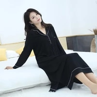 womens spring autumn winter nightdress large size loose and fat mm200kg modal nightdress home wear sexy nightgown sleep tops