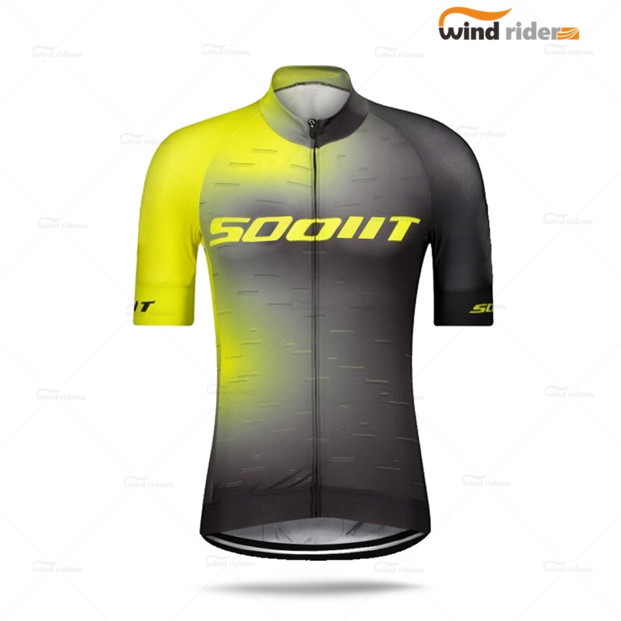 Camiseta de Ciclismo de equipo profesional scotful, Maillot de manga corta, secado...