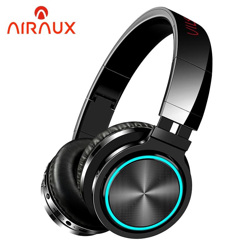 BlitzWolf AIRAUX AA-ER1 bluetooth Wireless Headphones HiFi Stereo Music Headset RGB HD Call TF Card Earphone for PC Computer