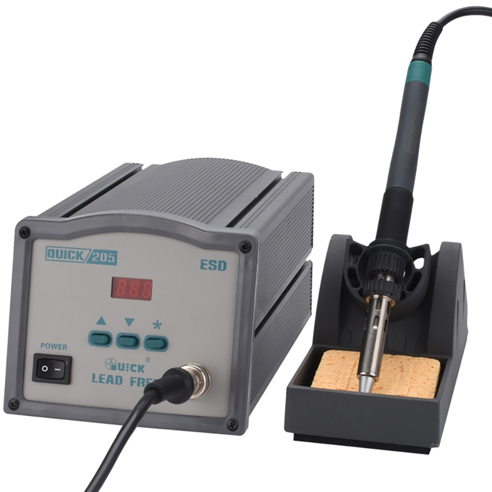 QUICK 205 150W High-Power Lead-Free Soldering Station Digital Display Thermostat Soldering 902A Handle Assembly