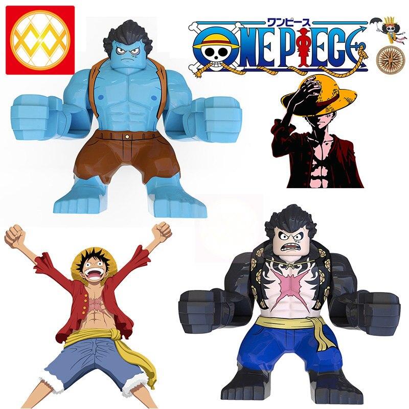 50 PCS  XP235 Newgate One Piece Monkey D Luffy Nami Sanji Chopper Nico Robin Franky Brook Edward Building Blocks Kids Toys XP236