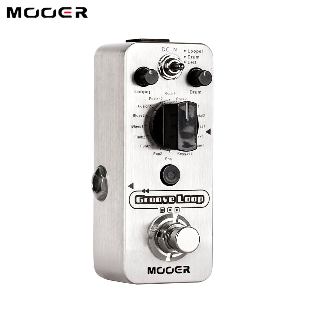 Mooer Groove Music Looper Pedal Electric Guitar Processor Loop Station Musical Instrument 20 Min Recording Drum Machine Time