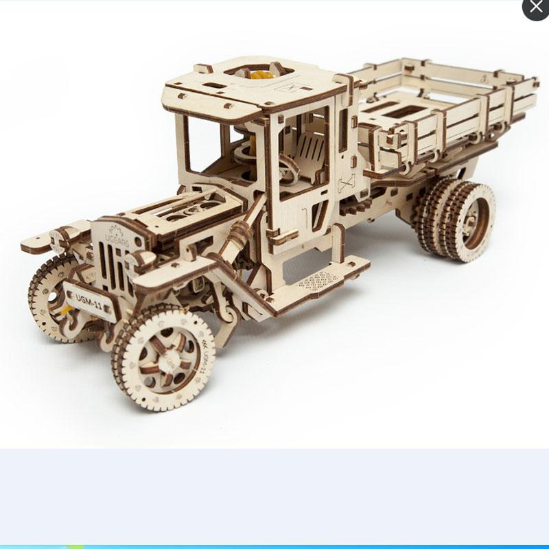 Modelo de ensamblaje flexible, archivo de camión, corte láser CNC, formato CDR DXF, dibujo vectorial, hoja de madera de metal, archivo de corte listo para usar E11