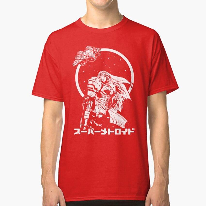Camiseta de cazador de recompensas interestelar Samus Aran Metroid Nintendo Mario Luigi, videojuegos de combate
