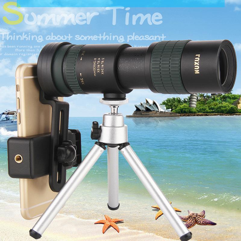 Binóculos de alta potência hd zoom monocular preciso telescópio bolso binoculo caça óptica prisma scope lente do telefone