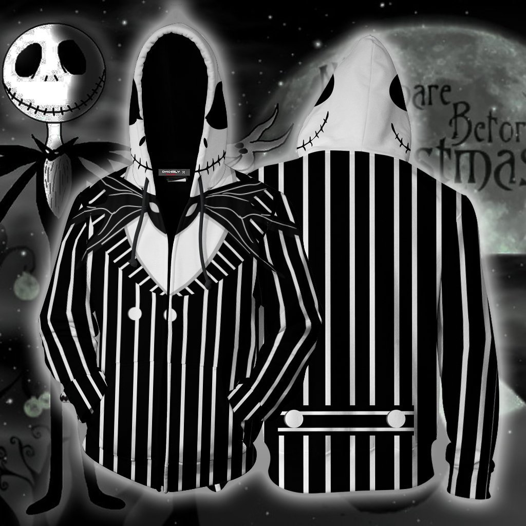 O pesadelo antes do natal cosplay hoodie jack skellington traje preto listra terno jaqueta festa de halloween presente de natal