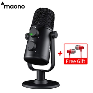 MAONO AU-902 USB Condenser Microphone Cardioid Sreaming Mic Podcast Studio PC Mic for YouTube, Skype, Gaming, On-line Teaching