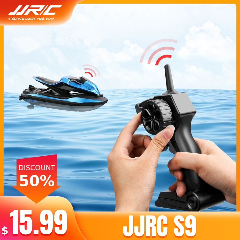 JJRC S9 1/14 2.4G Motorcycle Double Motor Two Speed Vehicle  RC Boat Remote Control Boat Models Outd
