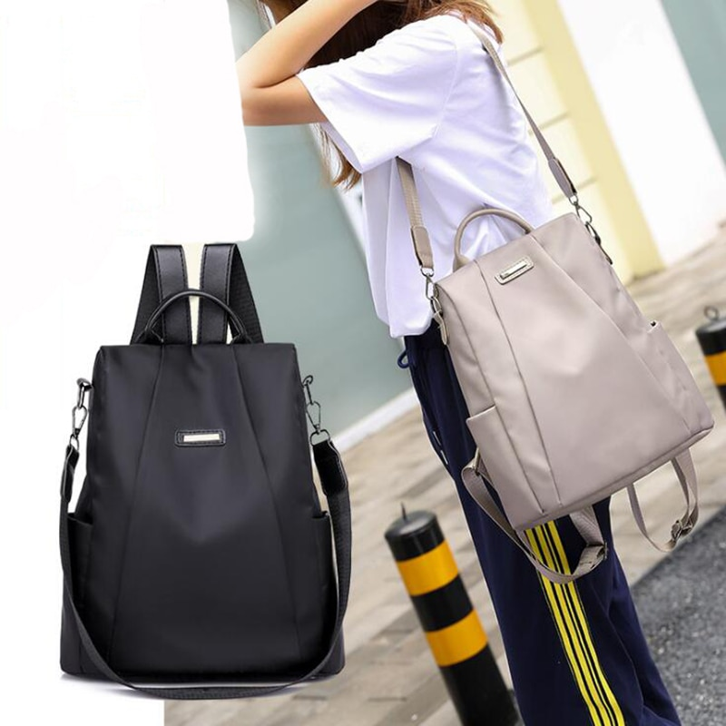 Women Travel Backpack Travel Bag Anti-Theft Oxford Cloth Backpack Black