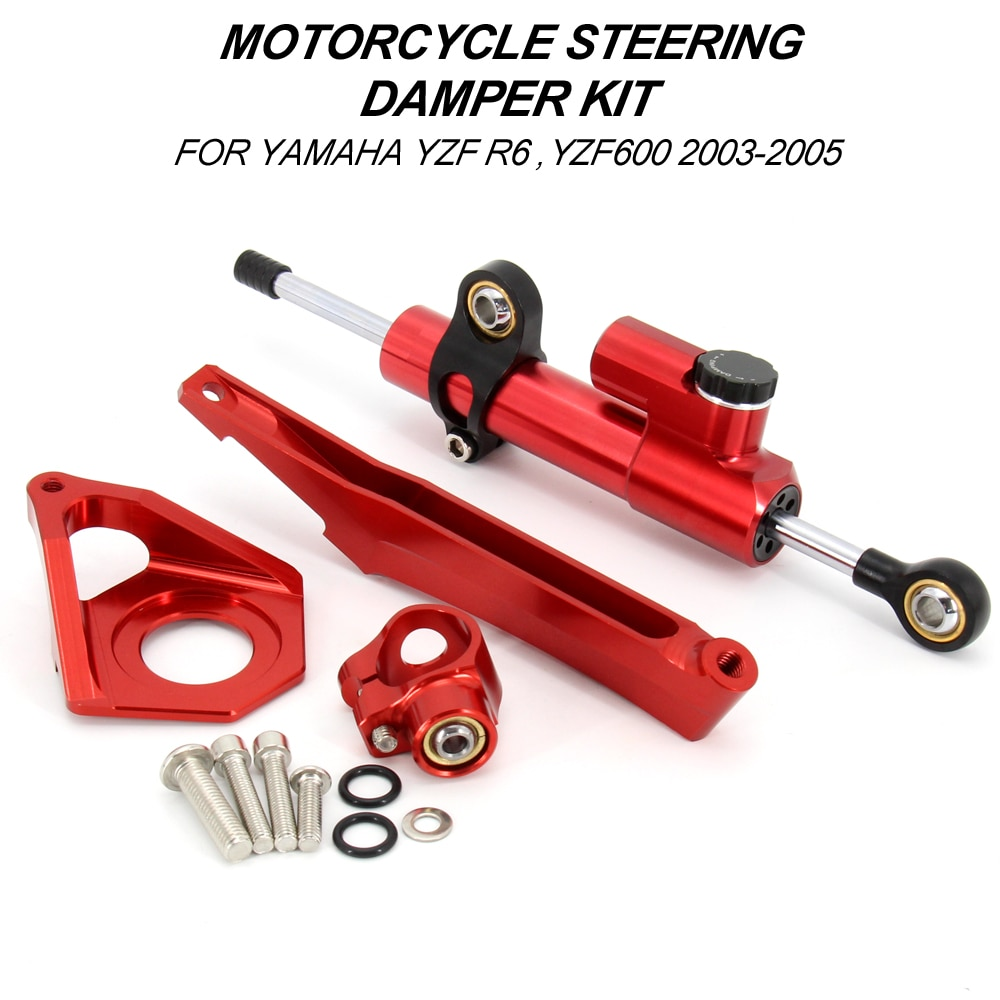 AliExpress - For YAMAHA YZF R6 YZF600 2003-2005 Motorcycle Steering Stabilizer Damper Mounting Bracket Kit