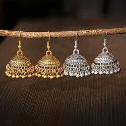 2020 cigano jóias vintage indiano jhumka sino borla brincos étnicos prata cor balançar brincos para mulher