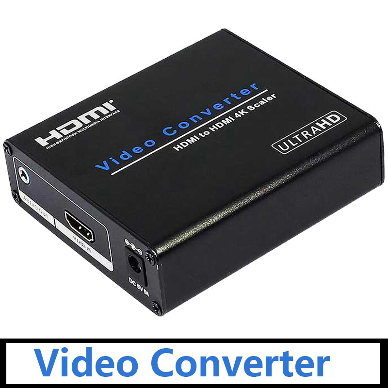 AM-9H20 HDMI to HDMI 4K Scaler Video Converter Portable HDMI Down/Up Scaler Adapter Switch for HDTV Blue-DVD Set-top Box EU Plug