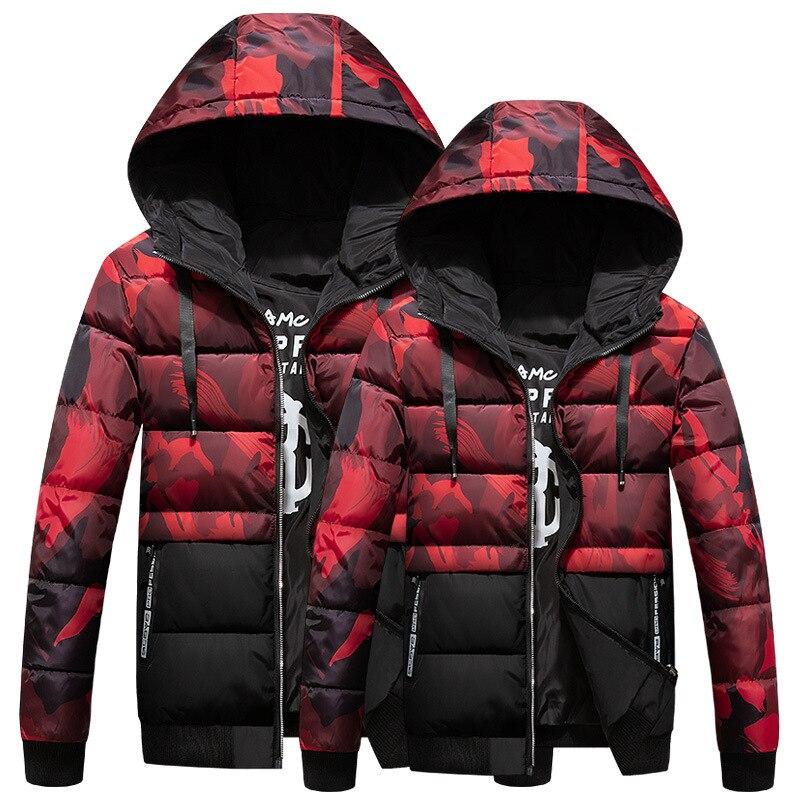 Мужская Повседневная зимняя куртка с капюшоном, парная короткая двухсторонняя одежда, стеганая куртка, толстая пуховая куртка, стеганая ку...