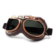 Ретро очки для мотокросса, винтажные классические мотоциклетные очки для Harley Pilot Steampunk ATV, медная Защита от УФ лучей