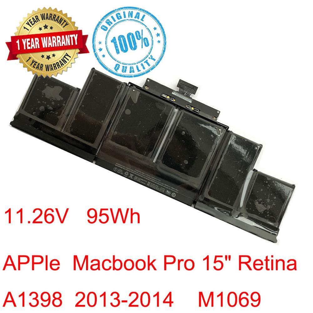 """Original 11.26v 95wh bateria do portátil a1494 para apple macbook pro retina 15 """"a1398 final de 2013 meados de 2014 a1417 me293 me294 mc975"""